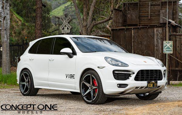 Porsche Cayenne Gts On Csm02 22in Black And Machine